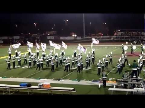 Montgomery High School Marching Band Performing at Hillsborough H.S. Football Game 10/19/12