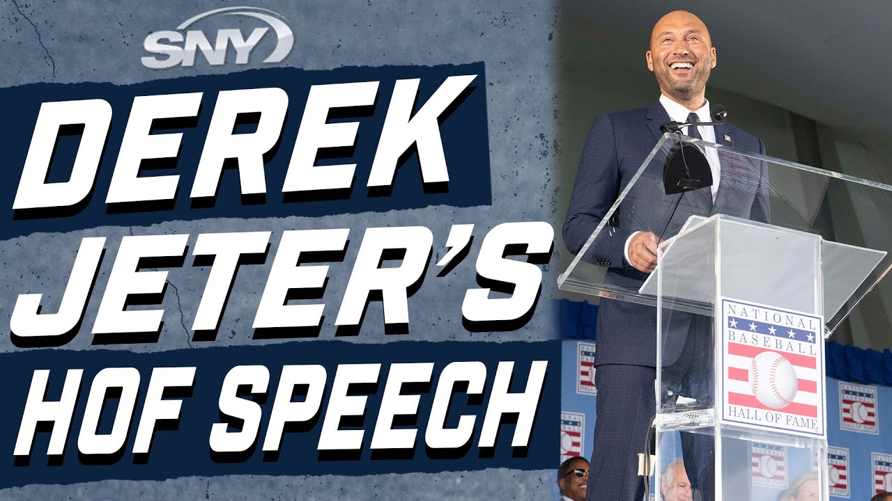 Derek Jeter Delivers at Hall of Fame Induction