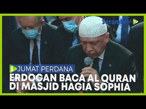 Erdogan Lantunkan Al Fatihah dan Al Baqarah di Masjid Hagia Sophia
