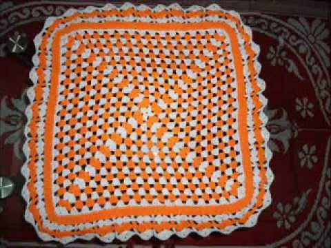 Crochet Square Table Cloth Youtube