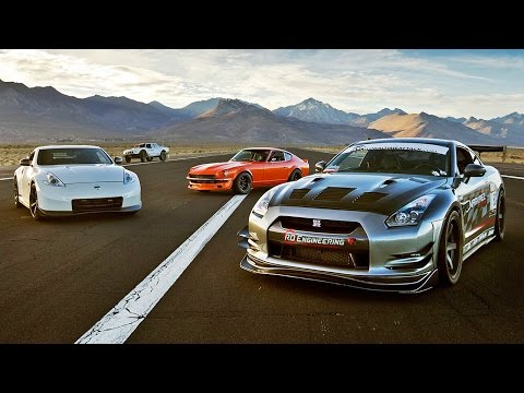 SEMA Drag Race: 240Z vs 370Z vs GTR vs Trophy Truck! - 2015 SEMA Week Ep. 5