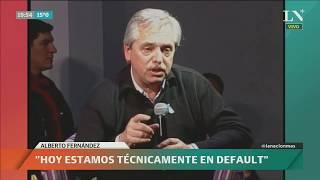 Discurso de Alberto Fernández, primer acto de campaña -