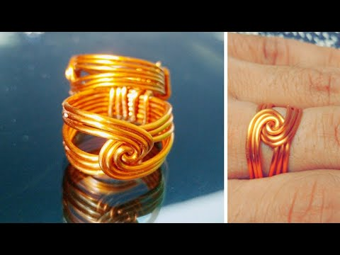 How to make wire twisted round ring-homemade copper ring