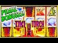 D GOES LOOKING FOR PEARL BONUSES! Tiki Torch Aristocrat Slot Machine SUPER FUN!