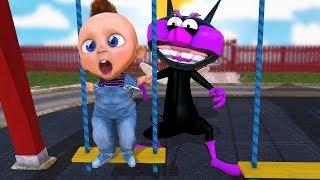 赤ちゃんボイがブランコで遊んでいたら. . .バイキンちゃんが現れた♪ thumbnail