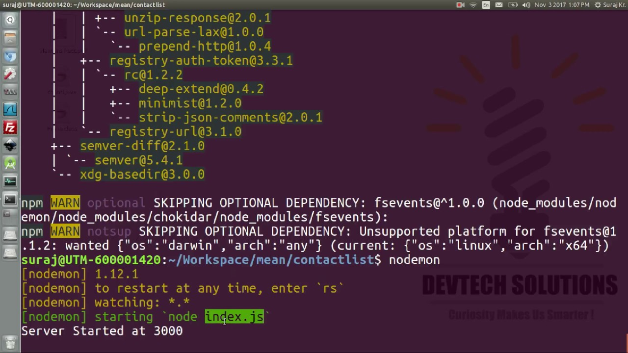 Nodemon : command not found solution in ubuntu linux