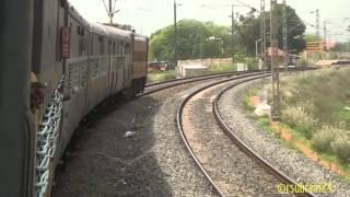 Kovai Express Xing Bangalore Intercity Exp @Irugur Curve