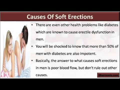 what causes poor erection