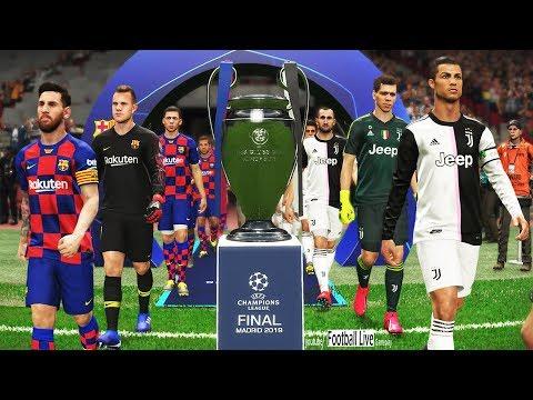PES 2019   Final UEFA Champions League   Juventus vs Barcelona   Gameplay PC   Ronaldo vs Messi