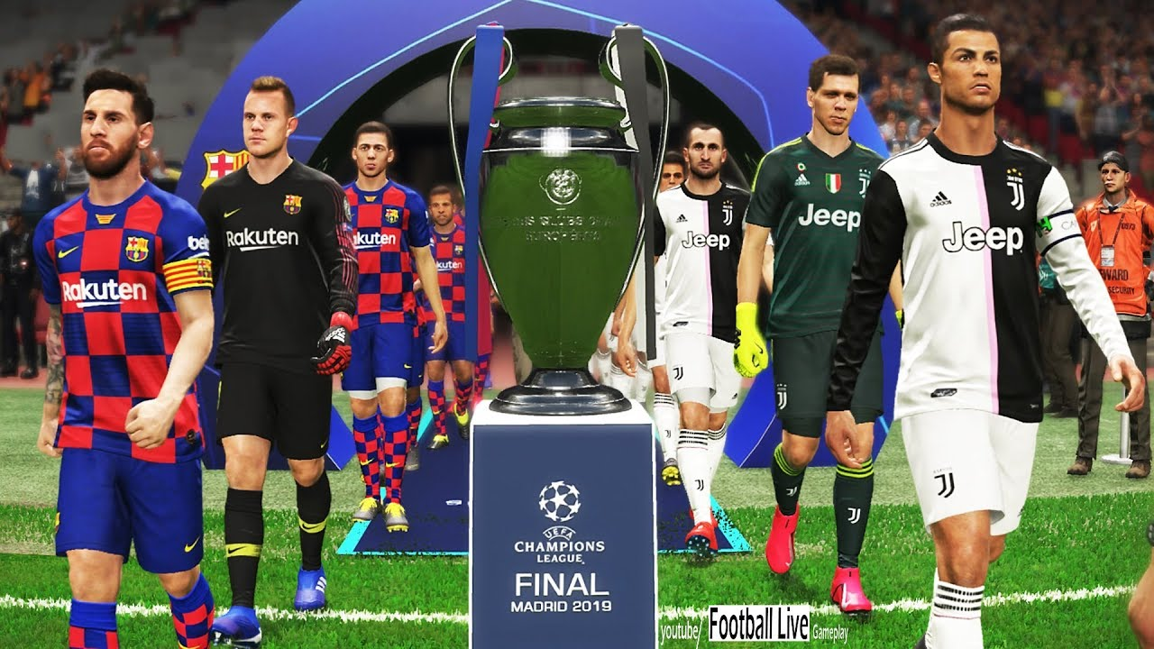 pes 2019 final uefa champions league juventus vs barcelona gameplay pc ronaldo vs messi youtube pes 2019 final uefa champions league juventus vs barcelona gameplay pc ronaldo vs messi