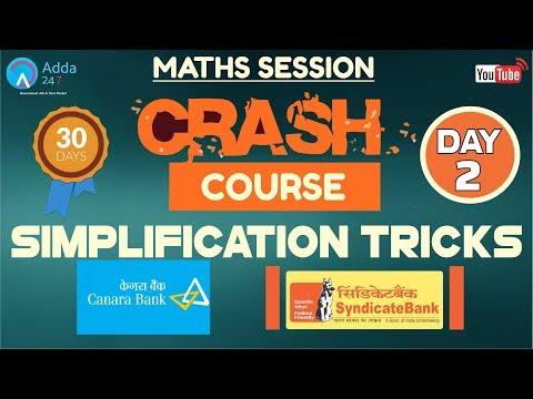 CRASH COURSE FOR SYNDICATE BANK, CANARA BANK | Simplification Tricks | Maths (Day -2)