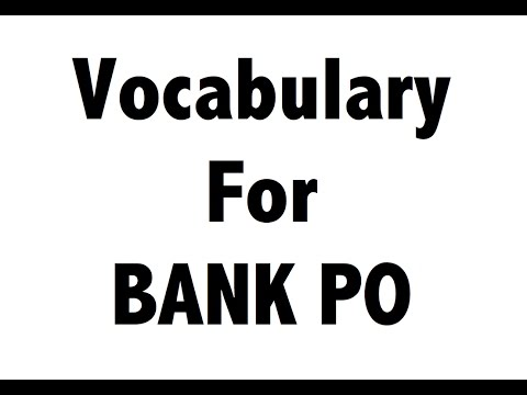 TOP 50 English Words - IBPS PO , Clerk , Specialist officer - VOCABULARY