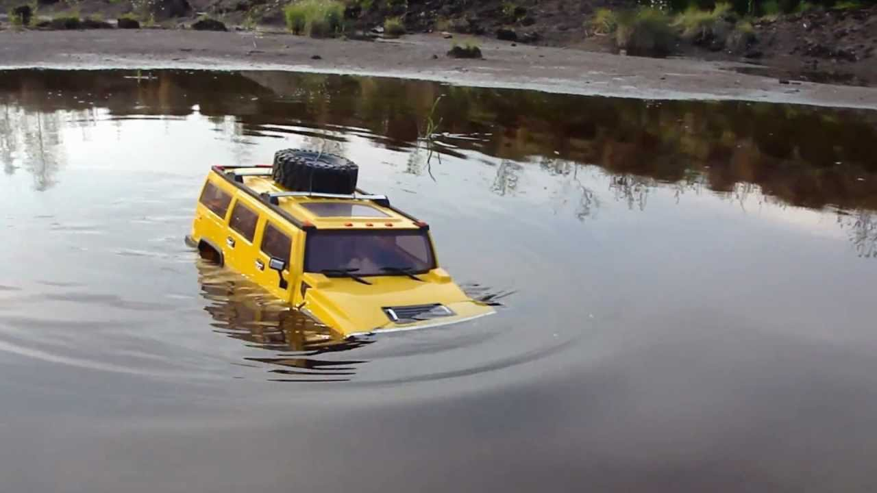 Rc Trail Hummer H2 Going Deep Amp Flight Big Lama Over Water
