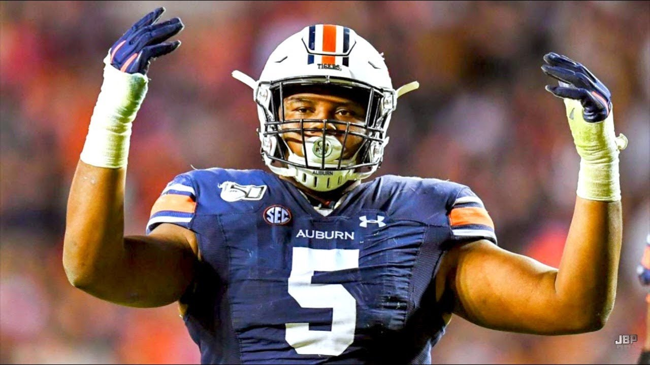Most FREAKISH Athletic DT in College Football || Auburn DT Derrick ...