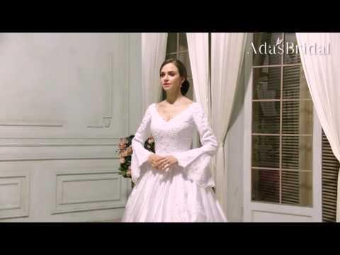 vintage-satin-v-neck-neckline-ball-gown-wedding-dress---adasbridal-(wwd75061)