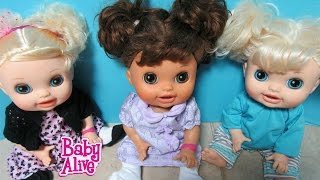 BABY ALIVE Dolls get new Toys R Us clothes! My Ballerina Baby + Real Surprises Sisters Kara + Sophie