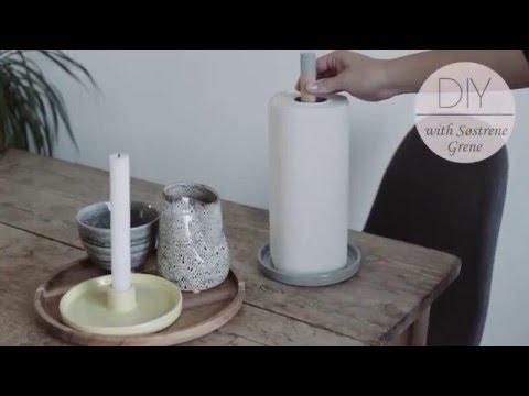 How to make a paper towel holder by Søstrene Grene - diy
