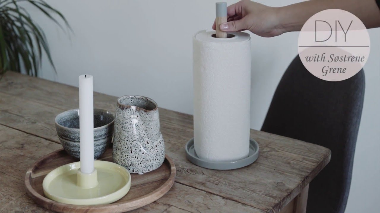 How To Make A Paper Towel Holder By Søstrene Grene   Diy   YouTube