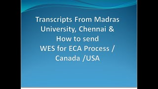 How to get Transcripts from Madras University,  Step by Step Procedure (Jan 2020)/Tamil