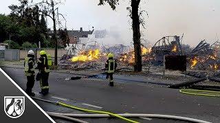 Großbrand in Mönchengladbach zerstört mehrere Gebäude
