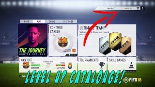 (UNLIMITED XP GLITCH) FIFA 18 How TO GET XP FAST! - LEVEL UP CATALOUGE QUICK!