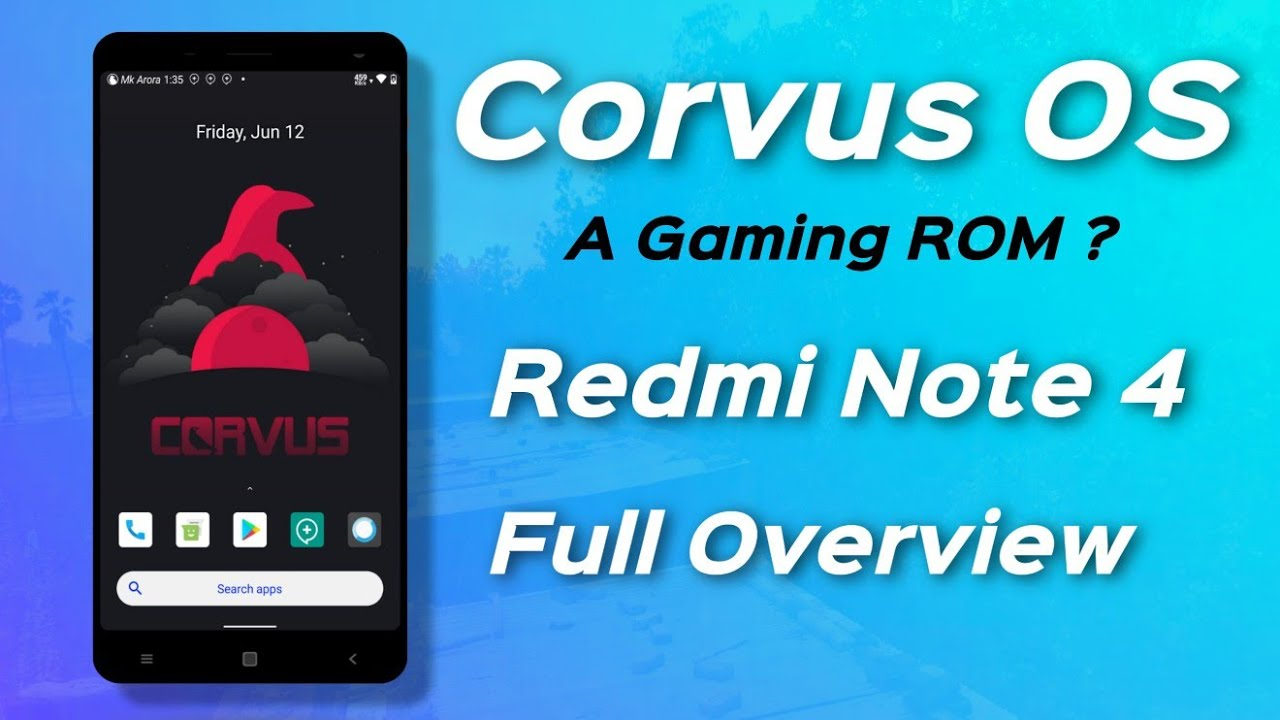 Official Corvus OS (Gaming ROM?) for Redmi Note 4X/4 Review | Huge Customization and performance 🔥