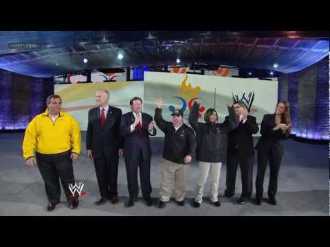 WWE is now proud to be a founding partner of the Special Olympics