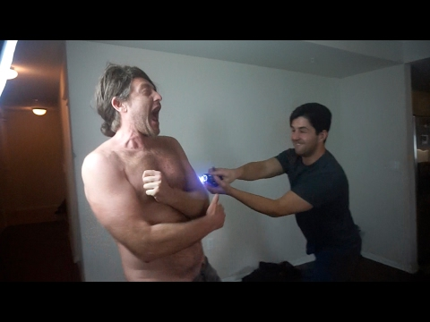 DAVID'S DAD GETS TAZED!!!