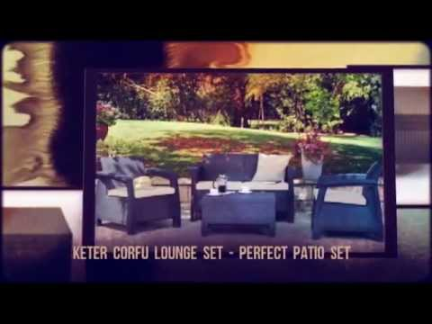 keter corfu 4pc lounge set youtube. Black Bedroom Furniture Sets. Home Design Ideas