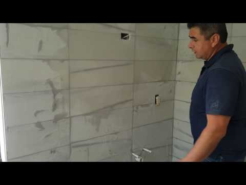 How to grout marble tiles on walls