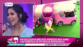 Melissa Paredes presentó el cuarto de juegos de su hija Mía