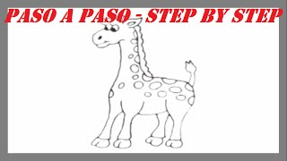 Como dibujar una Jirafa paso a paso l How to draw a Giraffe step by step