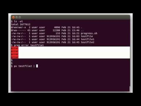 Show status progress in Linux Shell Scripts