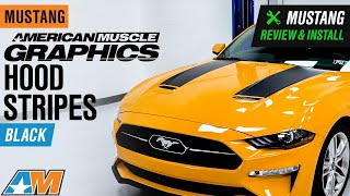 2018-2019 Mustang AmericanMuscle Graphics Hood Stripes - Black Review & Install