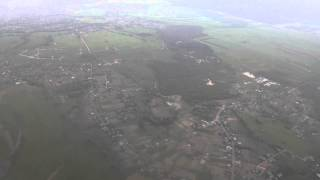 Полет над Киевом и посадка в Борисполе (KBP). Flight over Kiev and landing in Borispol (KBP)