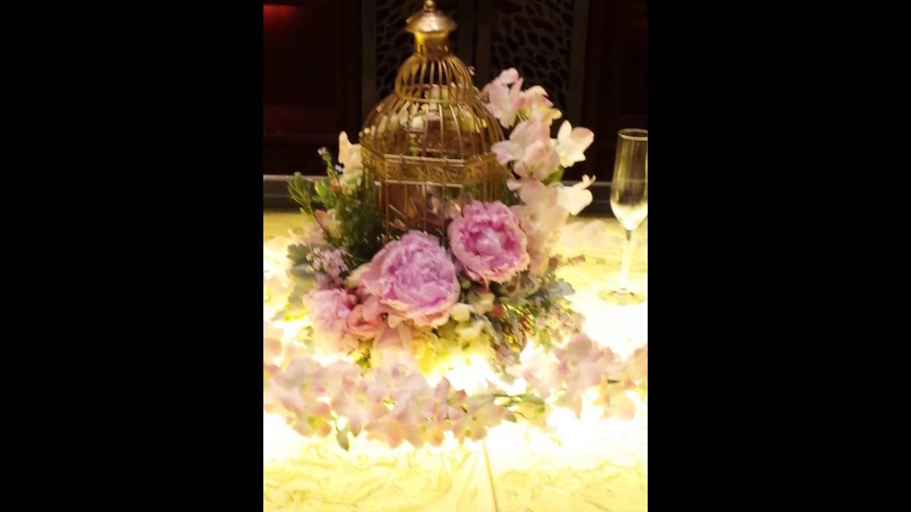 Wedding Reception Flower Arrangements - YouTube