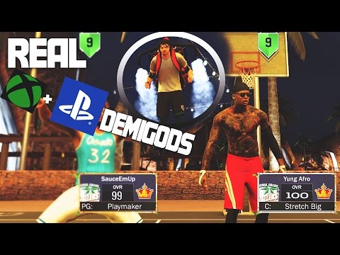 NBA 2K17 - REAL DEMIGODS ON THE PARK + MASCOT AND JETPACKS 😱