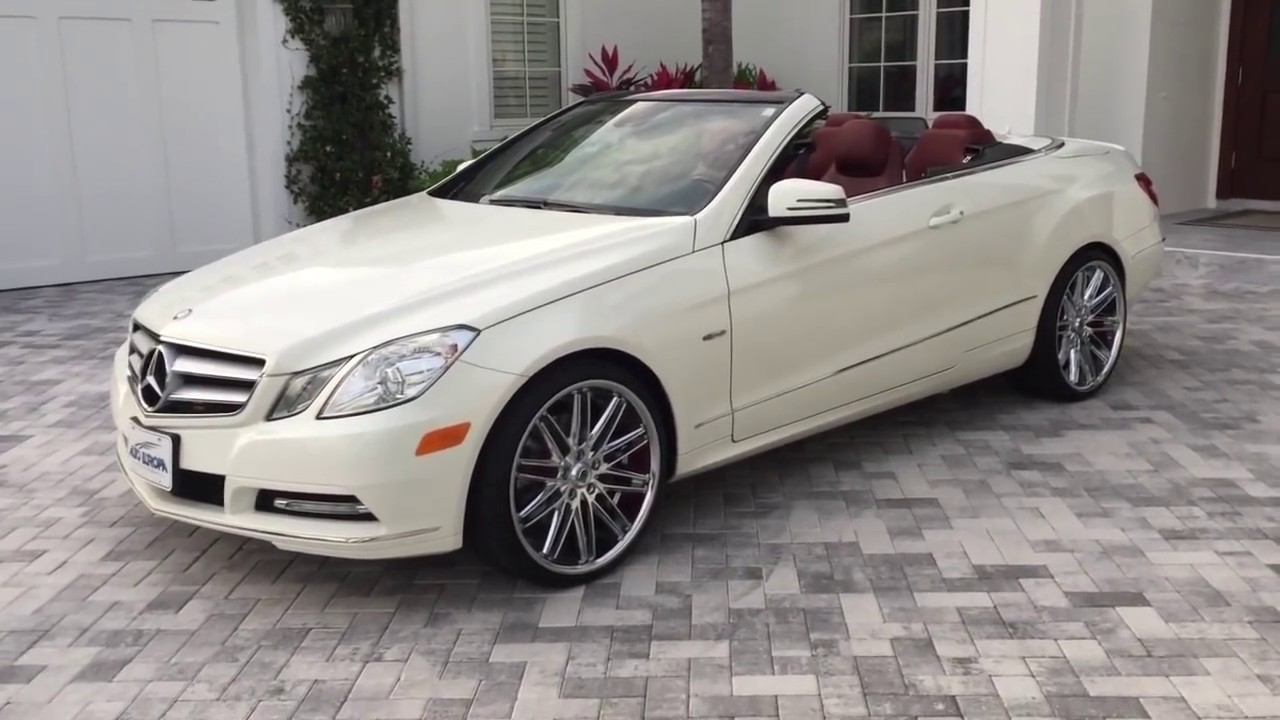 2017 Mercedes Benz E350 Cabriolet Review And Test Drive By Bill Auto Europa Naples