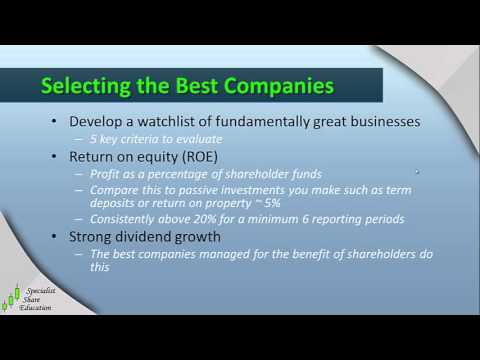 Selecting the Best Companies | Investment in Shares