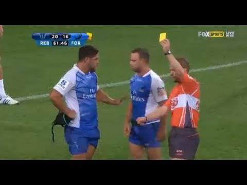 Alby Mathewson Controversial Yellow Card on Western Force Debut 2013