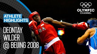 A young Deontay Wilder 🇺🇸 at Beijing 2008 | Athlete Highlights