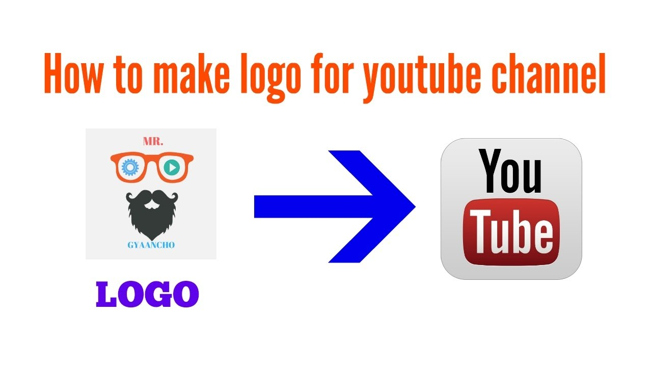 How to make logo for youtube channel (Hindi) - YouTube