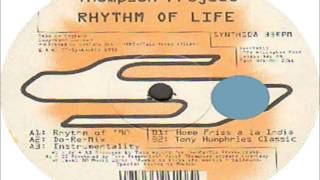 The Keith Thompson Project - Rhythm Of Life (Tony Humphries Classic) 1993 SYNTHETIC (UK)