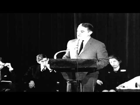Sargent Shriver Speaks in New York About the Role of Peace Corps  1965