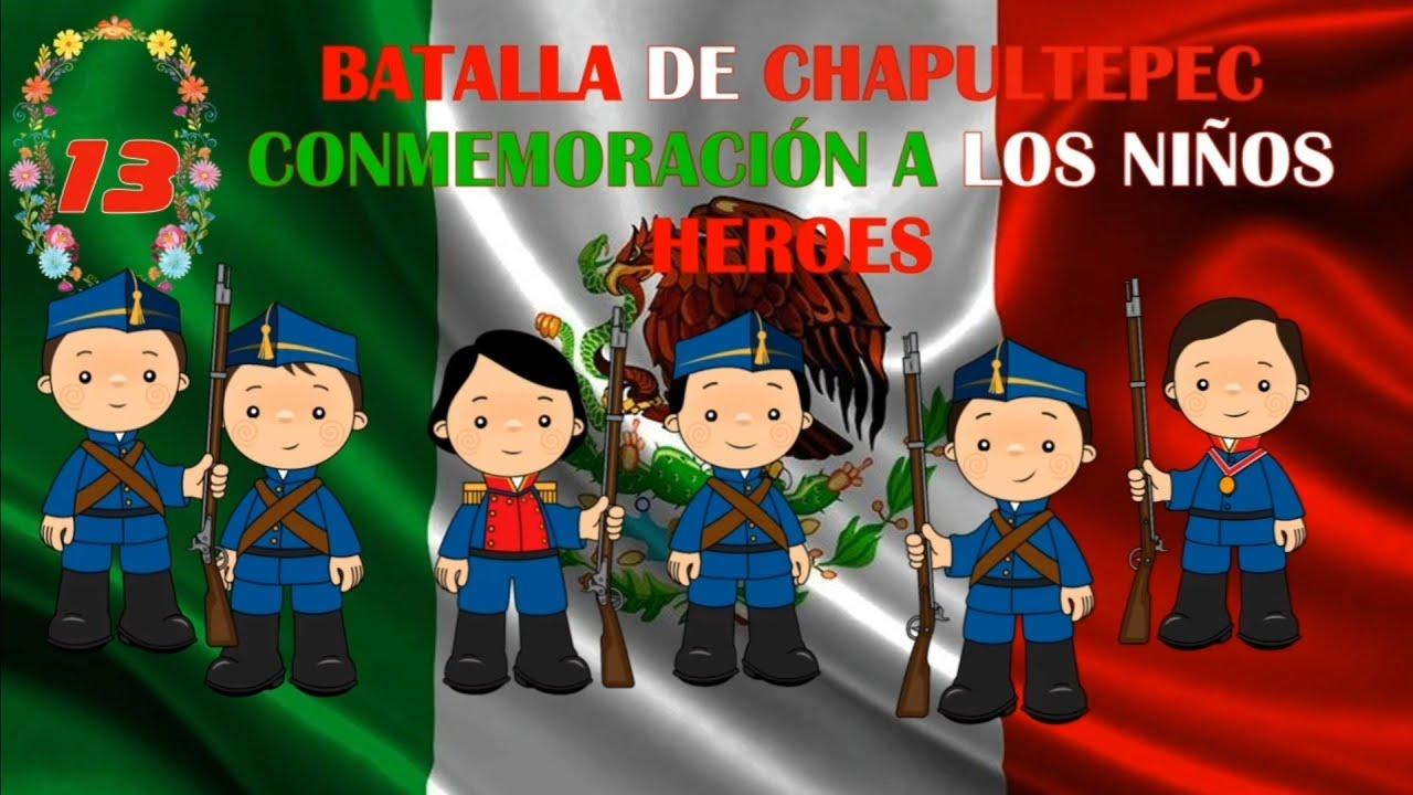 BATALLA DE CHAPULTEPEC CONMEMORACIÓN A LOS NIÑOS HÉROES - YouTube