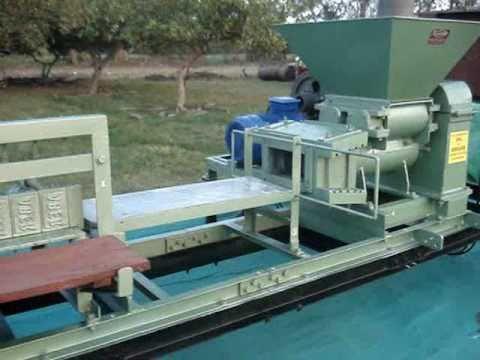 Trial run of Clay Brick Machine with 15 HP...