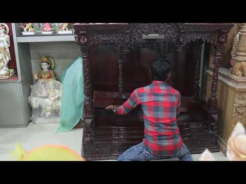 Solid Wood Pooja Mandir for Home - GMB Sculptures