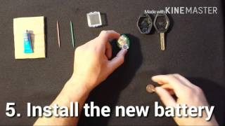 Changing the battery in a BMW key fob or replacing the BMW key battery