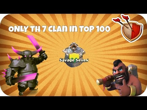 Clash of Clans: TOP 100 Clan - ONLY Th 7 Clan - Savage Seven [HD/HQ] (German/Deutsch)