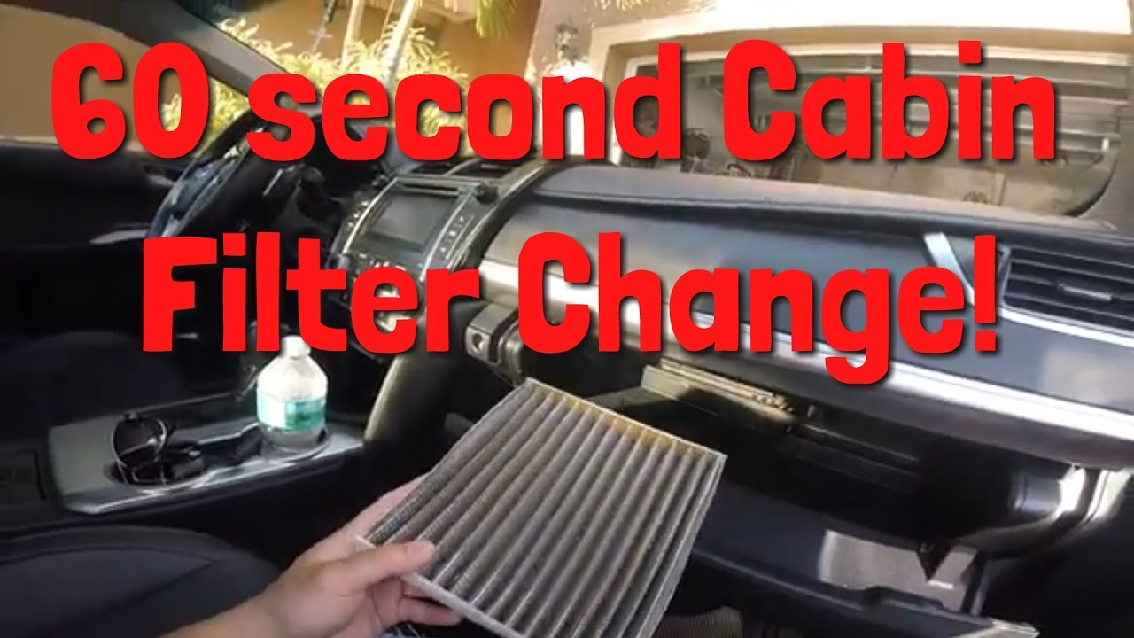 Filter Location Change Your Camry S Cabin Filter In 60